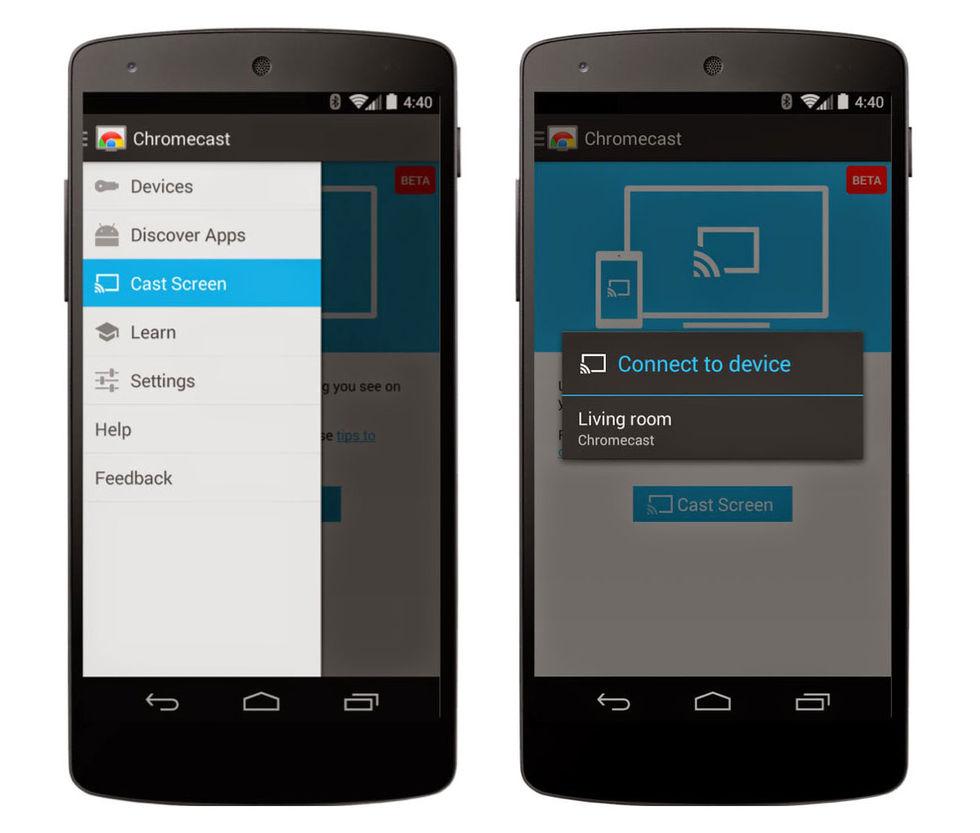 Skärmspegla från Android till TV via Chromecast