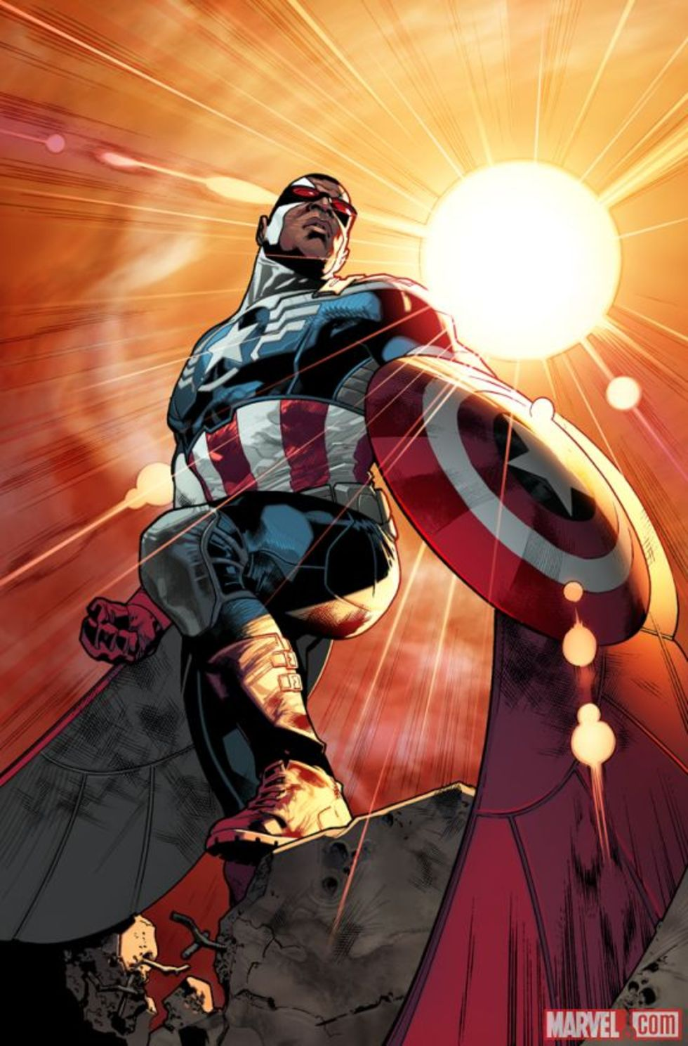 Captain America blir färgad
