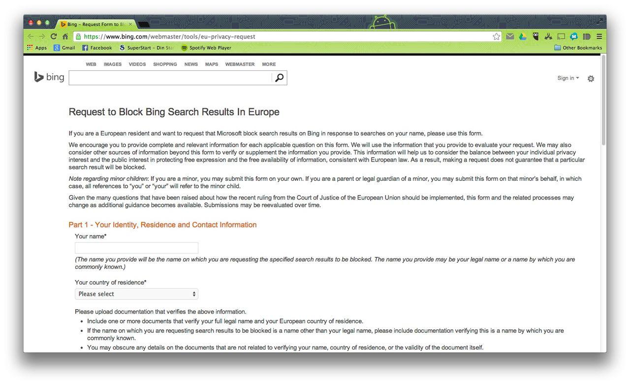 Nu kan du bli bortglömd av Bing med