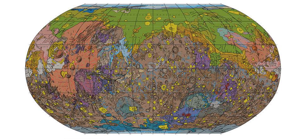 Karta över Mars