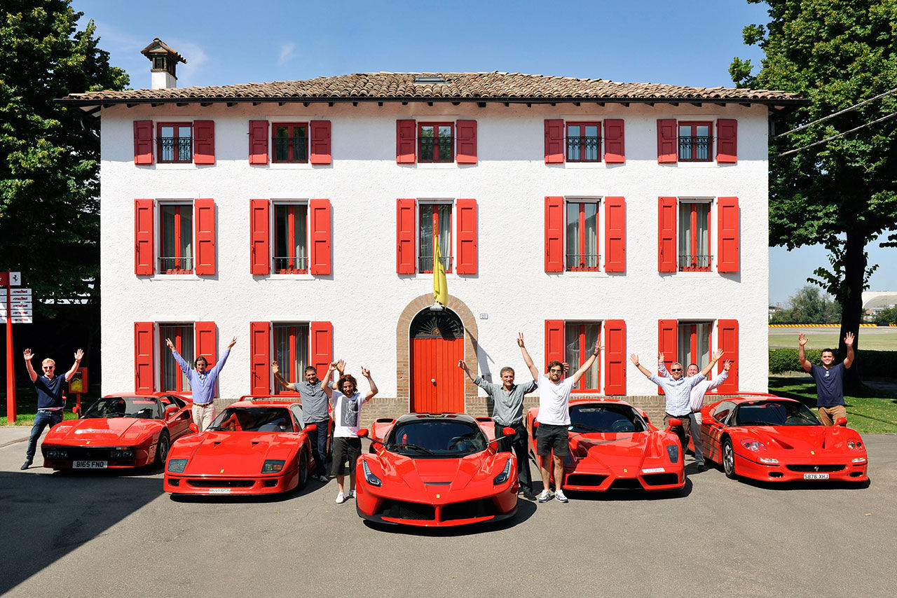 Roadtrip med Ferrari 288 GTO, F40, F50 och Enzo för att hämta LaFerrari