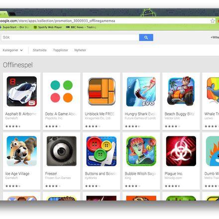 Hittar inte netflix på google play