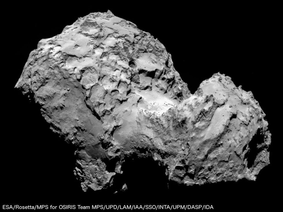 Första närbilden från Rosetta