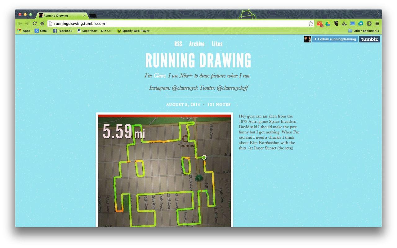 Running Drawing