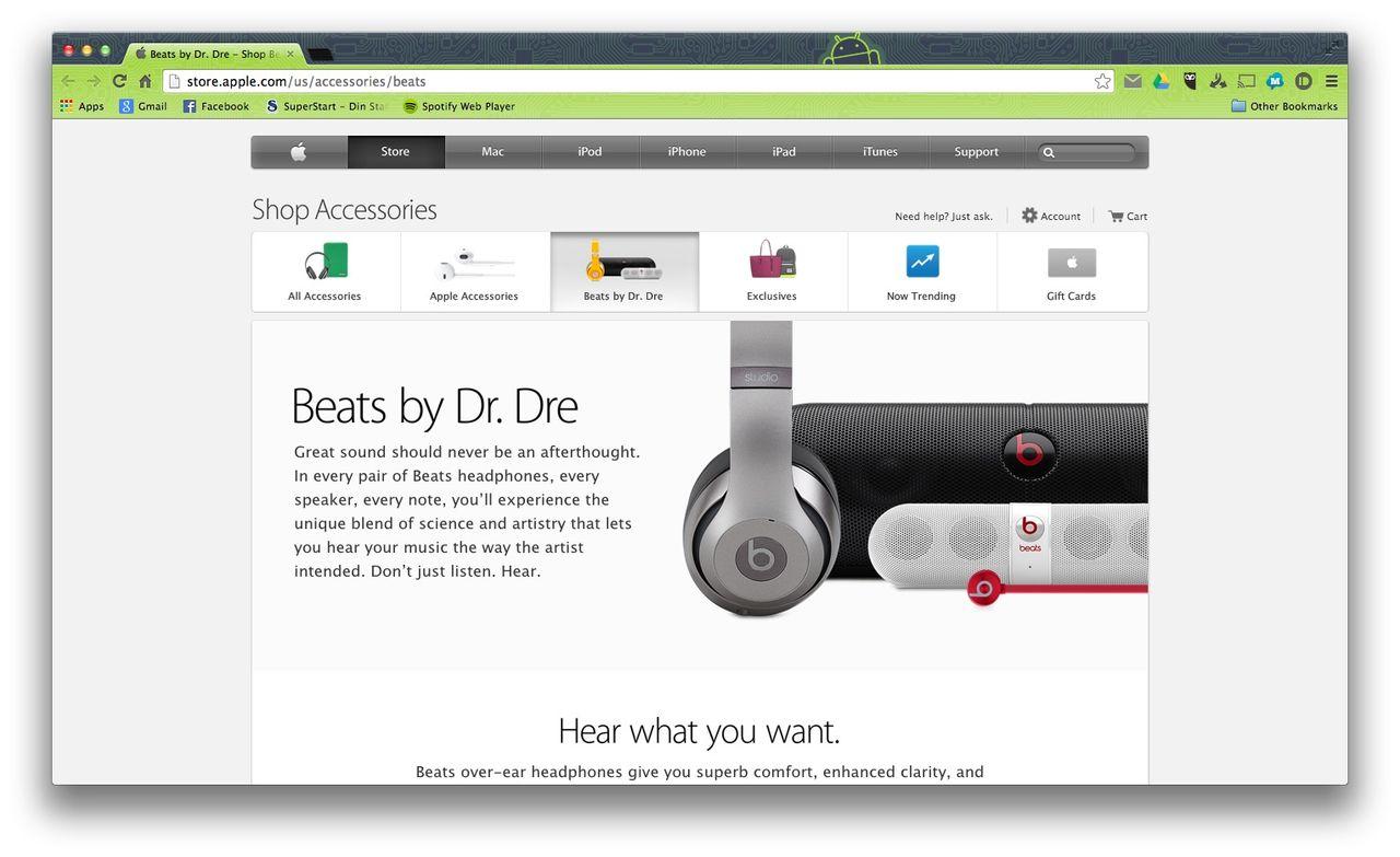 Nu har Beats en egen sektion på Apple Store