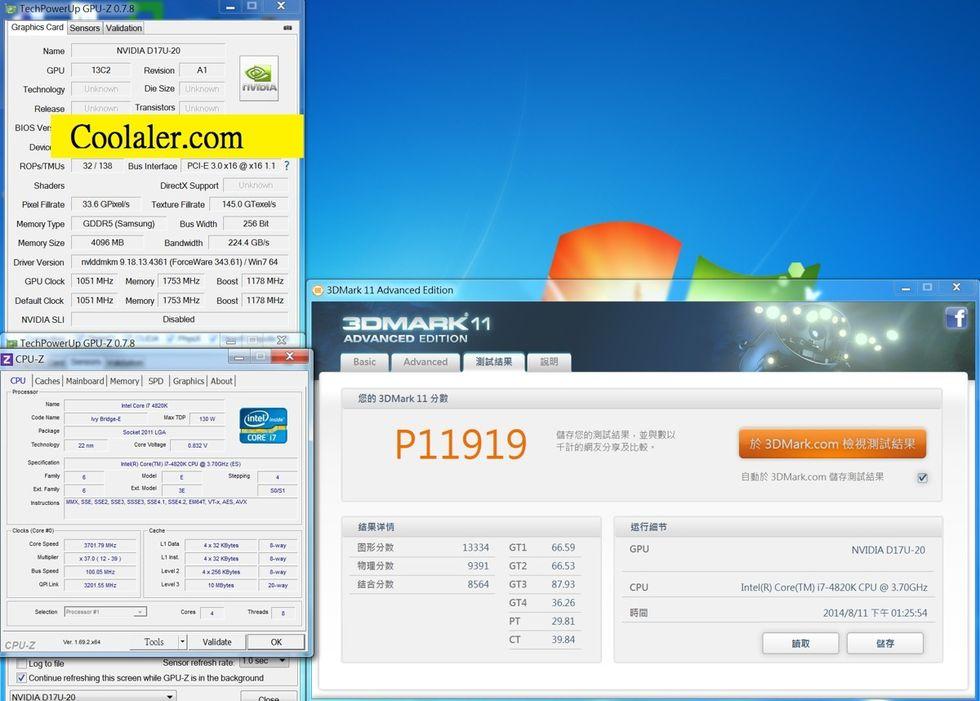 GeForce GTX 870 testat i 3DMark 11
