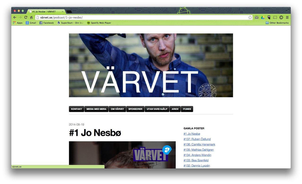 Podcasten Värvet goes international