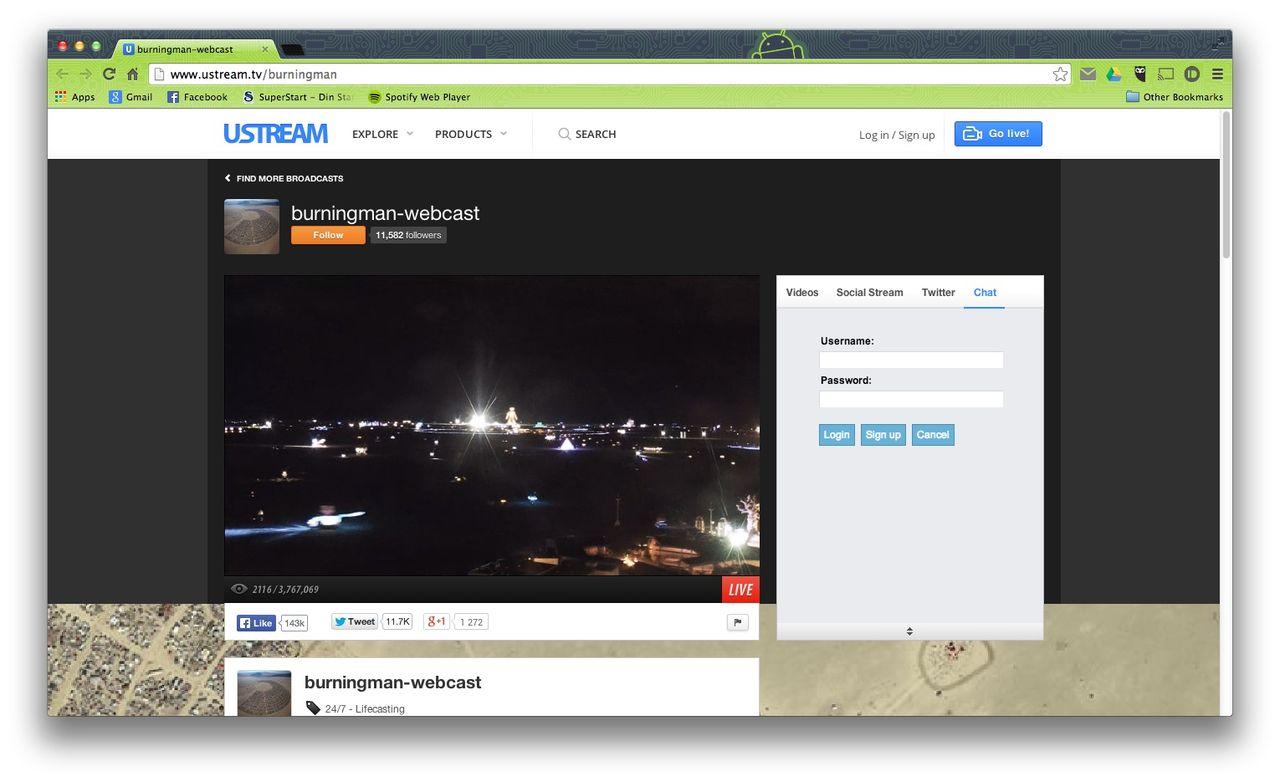 Kolla in Burning Man live