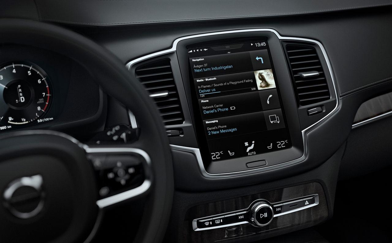 Så fungerar Volvos nya touchskärm