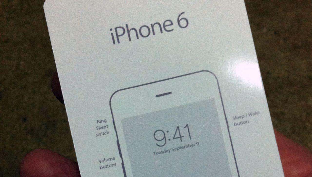 Läckt bild på snabbstartsguiden för iPhone 6