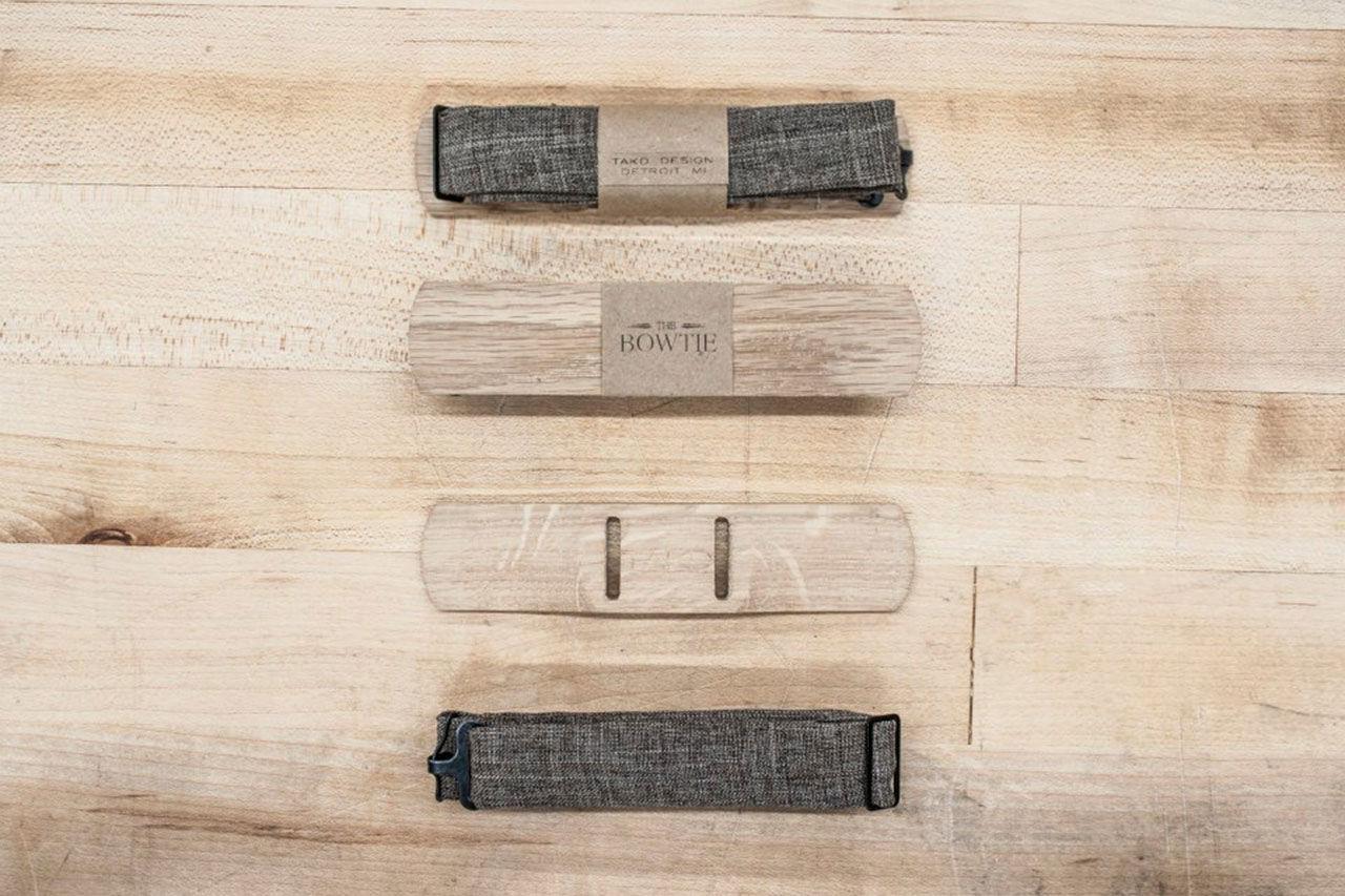 En träbit istället för fluga eller slips