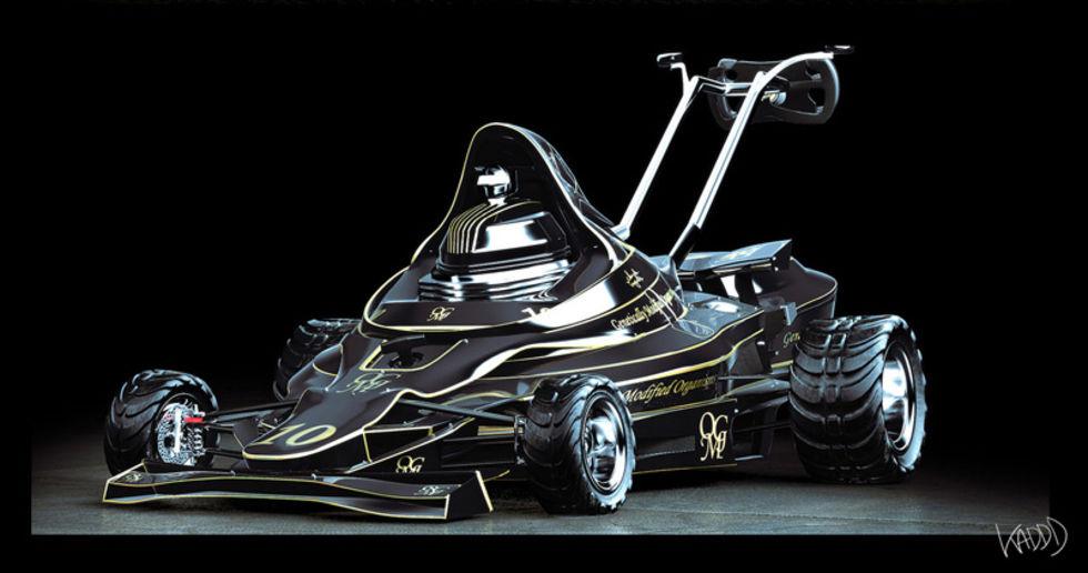 John Player Lotus F1-liknande gräsklippare