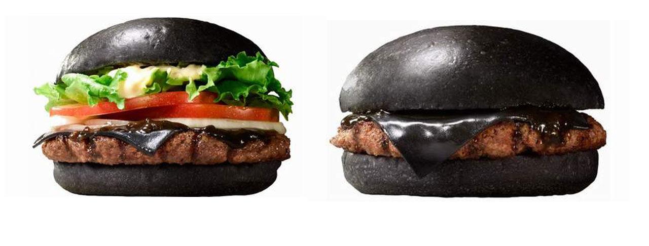 Burgare svart som natten hos Burger King