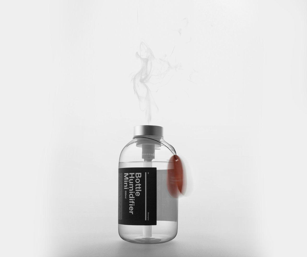 Luftfuktare i en liten flaska