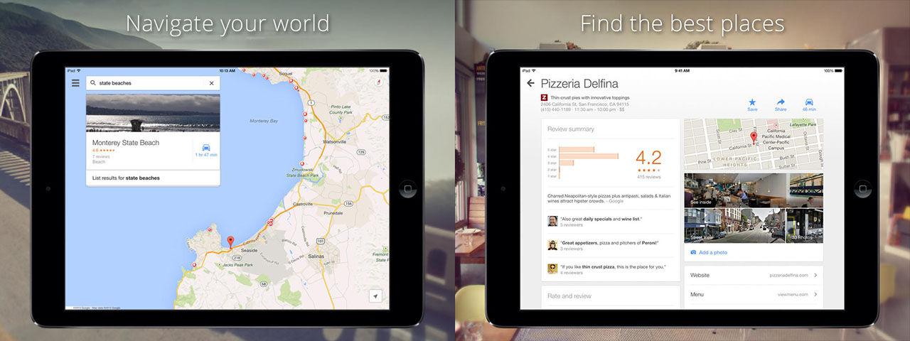 Google Maps uppdateras inför iOS 8-släppet