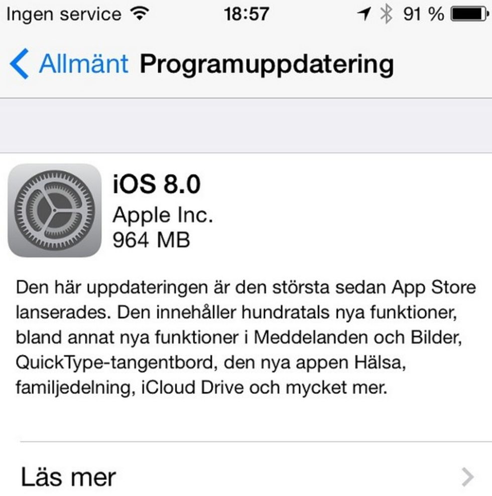 Nu kan man ladda ner iOS 8