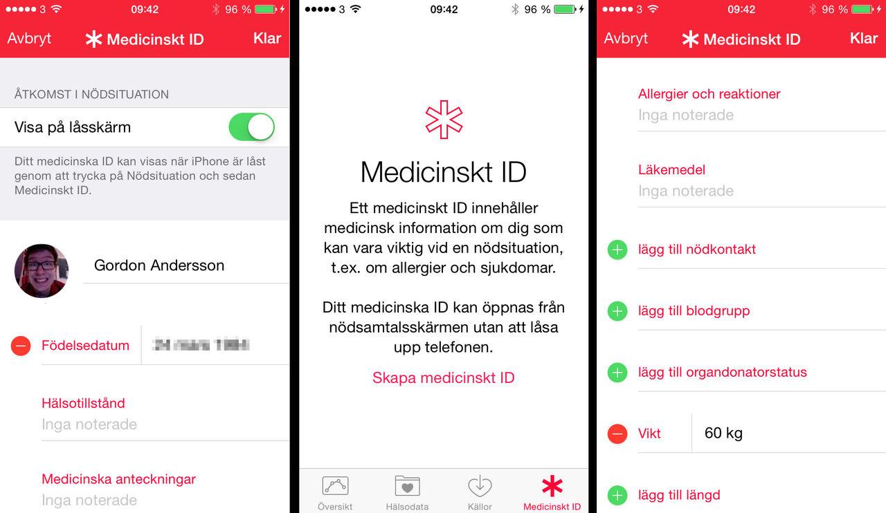 Fixa ett medicinskt ID på din iPhone