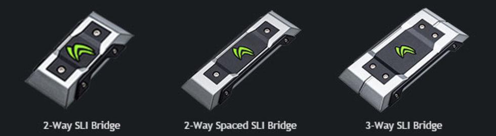 Nvidia släpper SLI-bryggor med LEDs