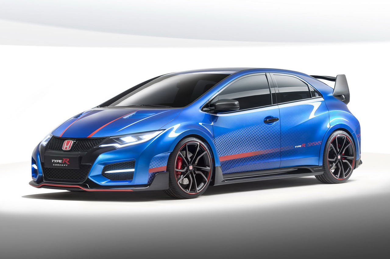 Honda visar nästa Civic Type R i ny färg