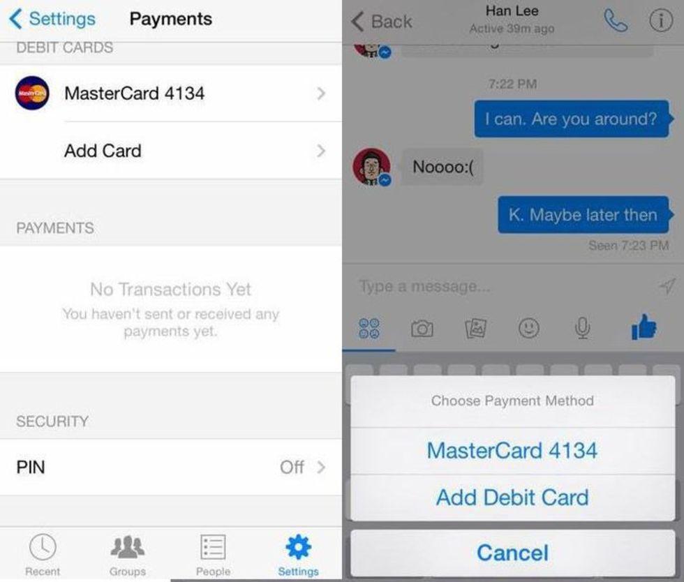 Facebook kan använda Messenger som betalningsplattform