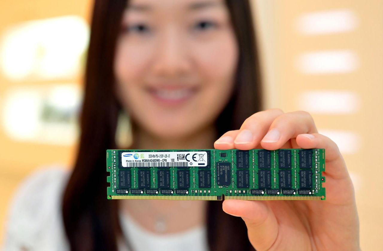 Samsung börjar tillverka 8 Gb 20 nm-chip