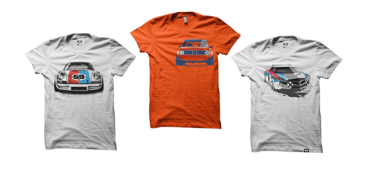T-shirts med snygga biltryck