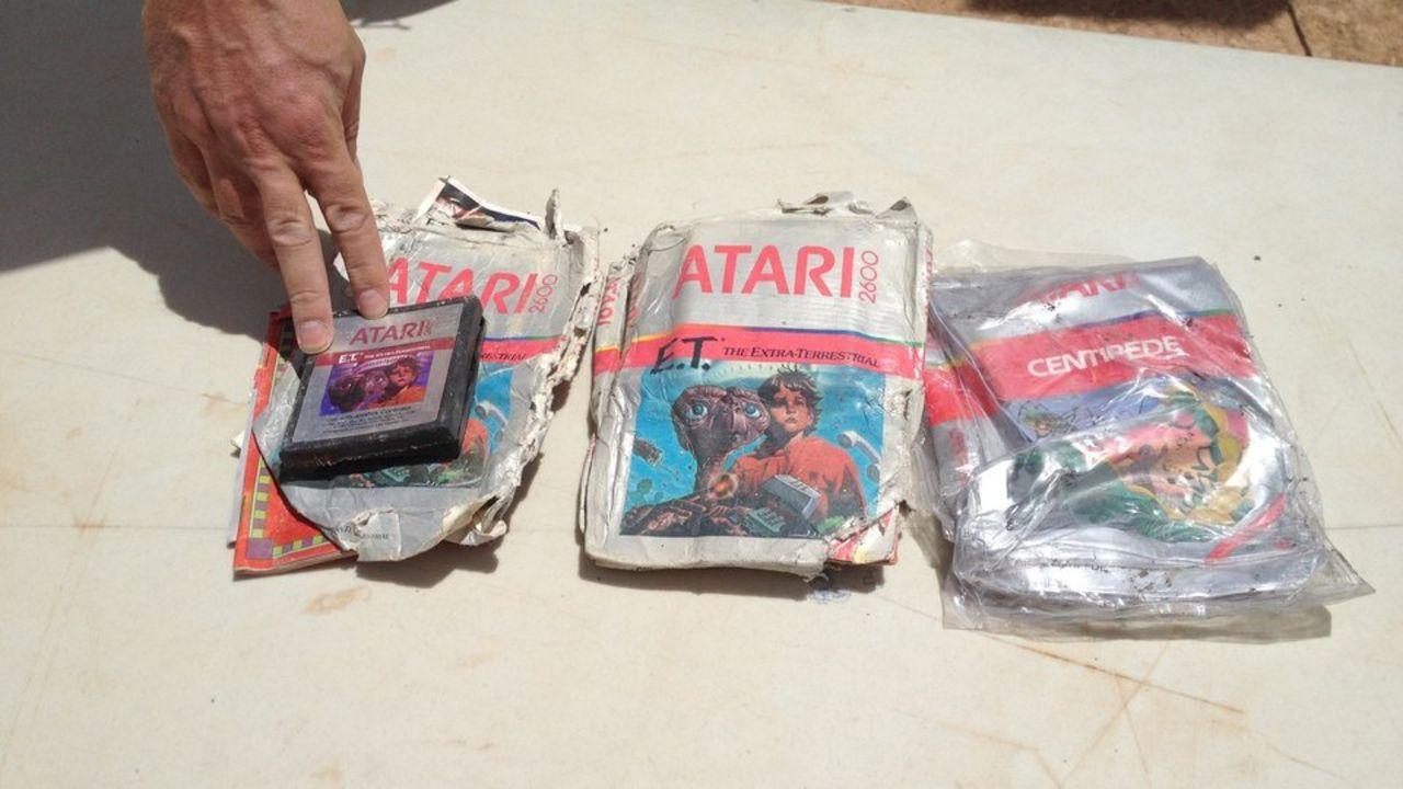 De uppgrävda E.T.-spelen nu på eBay