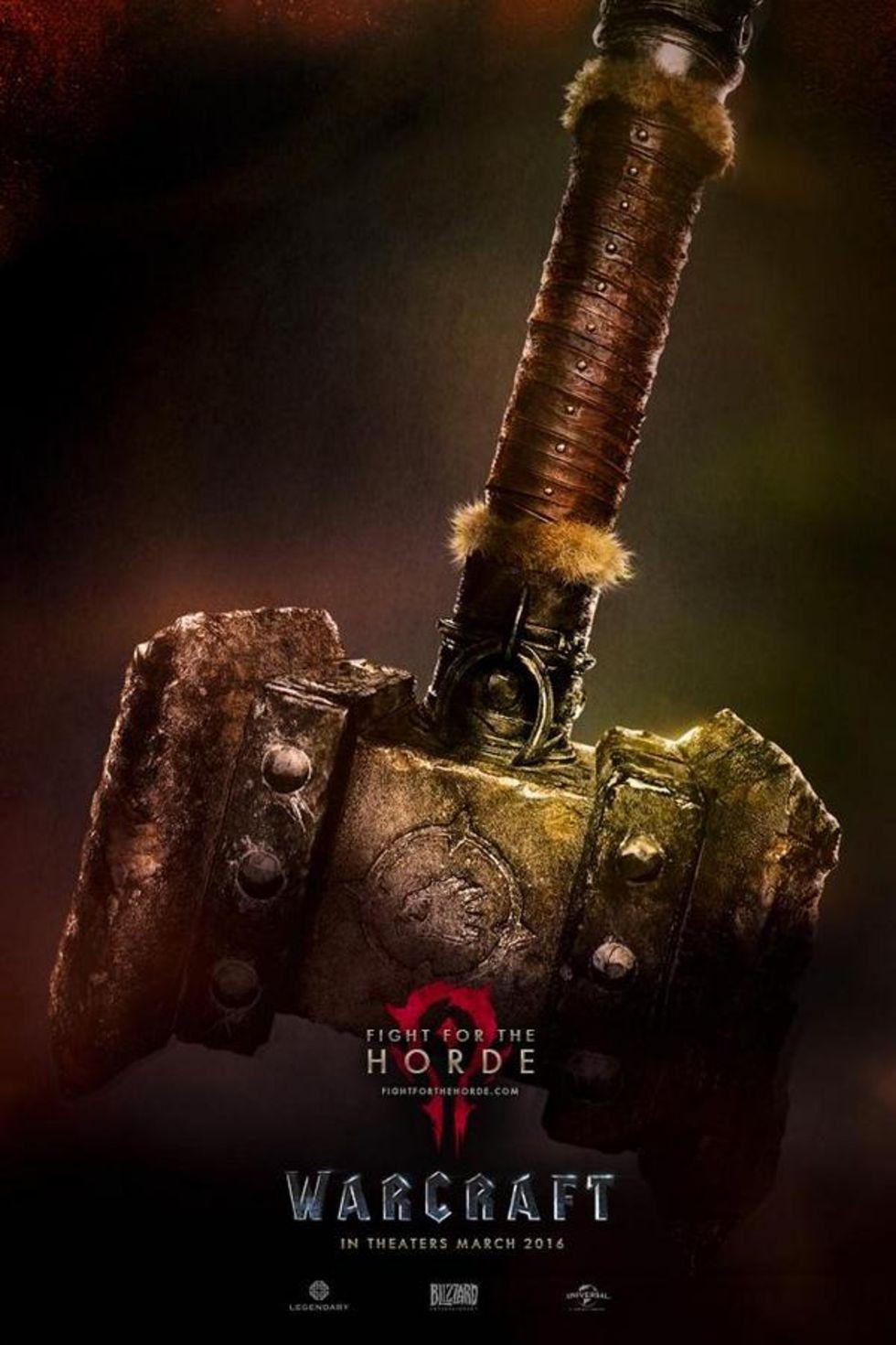 Posters från filmen Warcraft