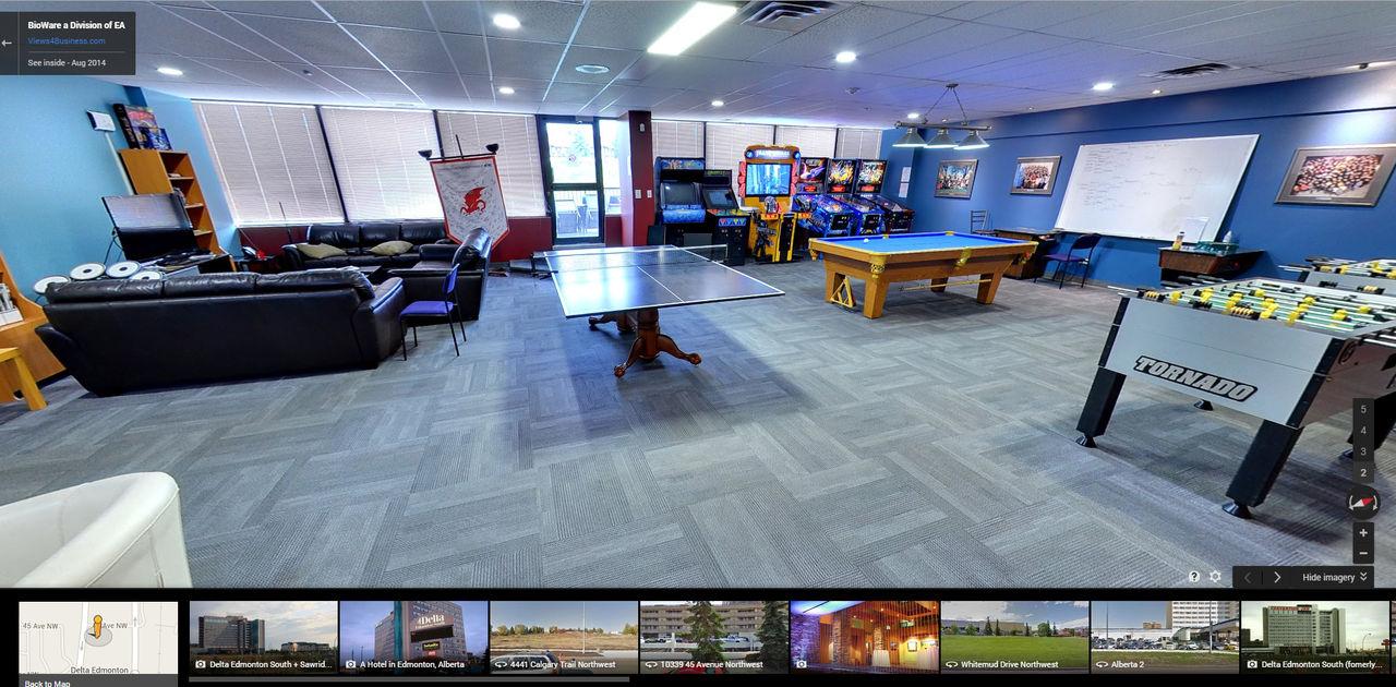 Kolla in Biowares huvudkontor med Google Maps