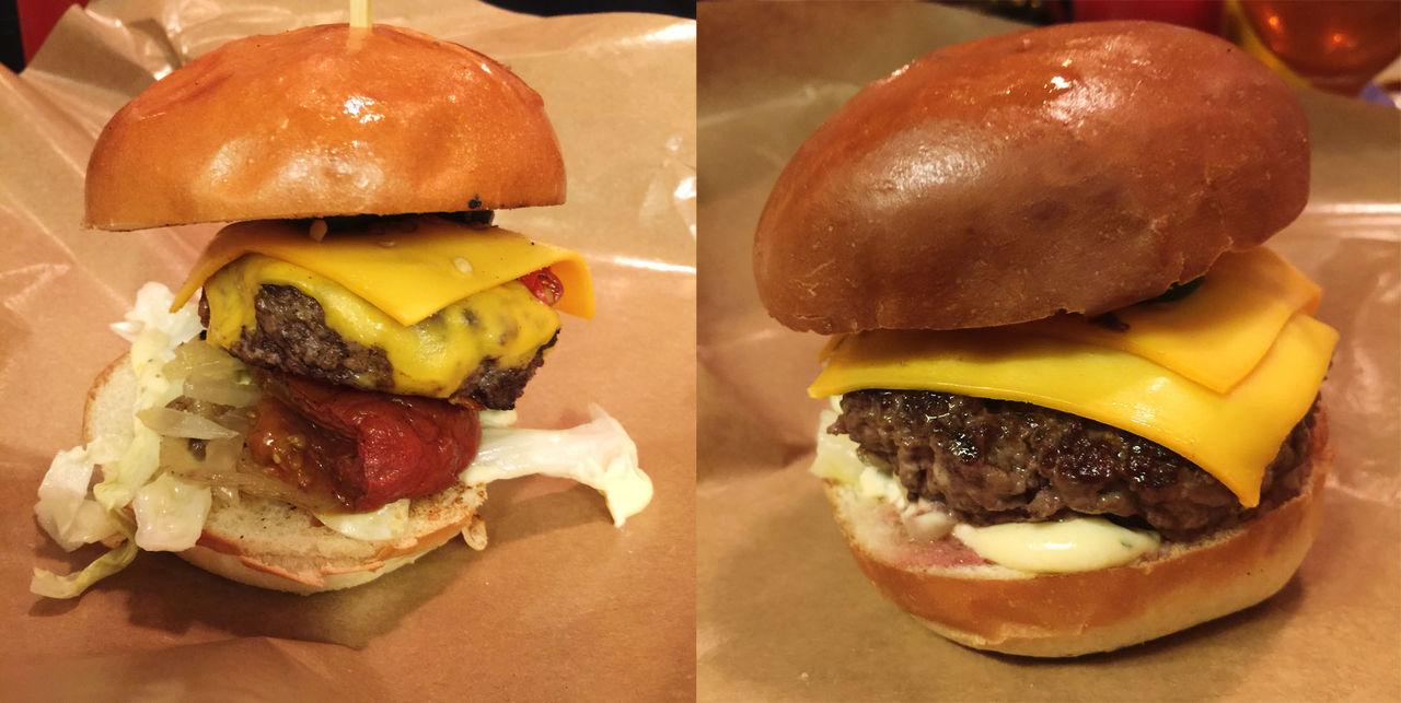 Saftig burgare på Burgers & Beer