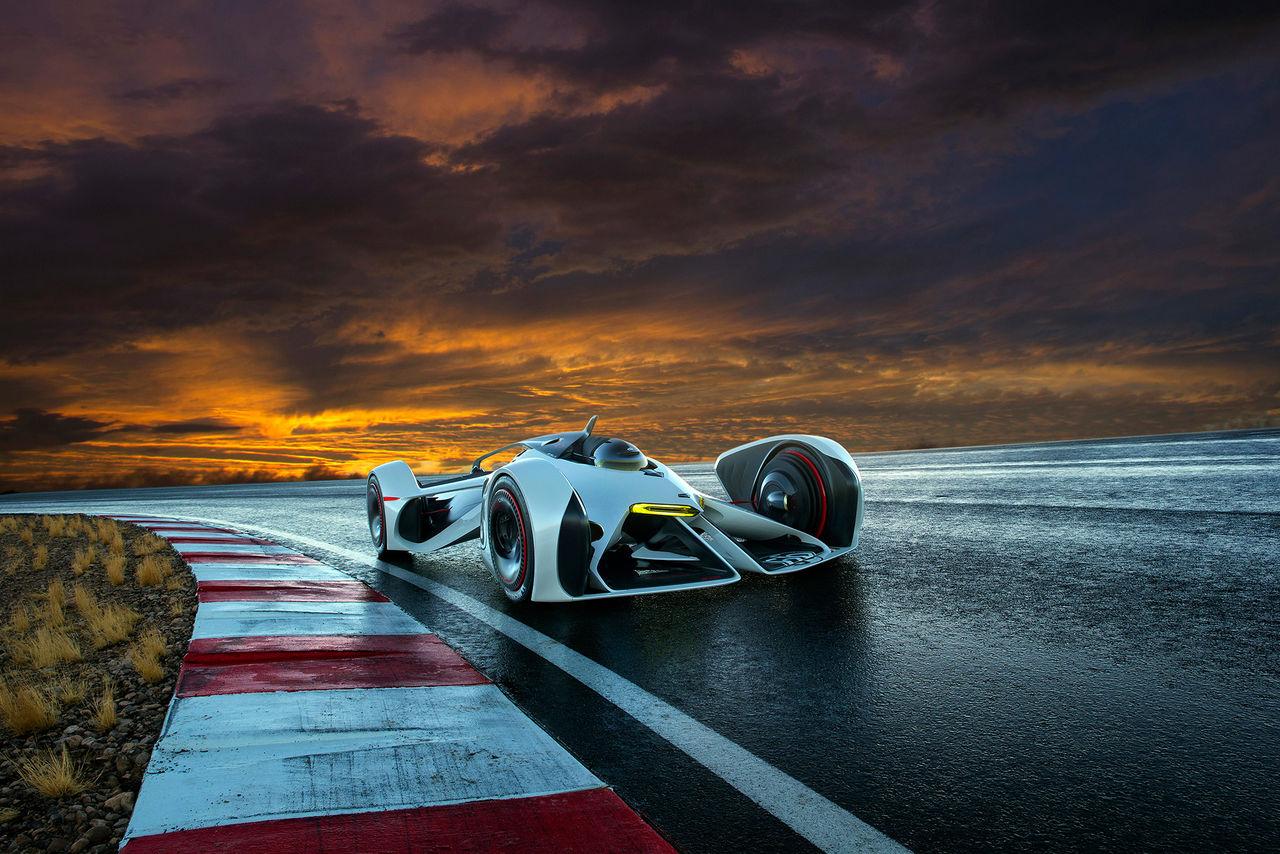 Här är bilen som drivs av laser