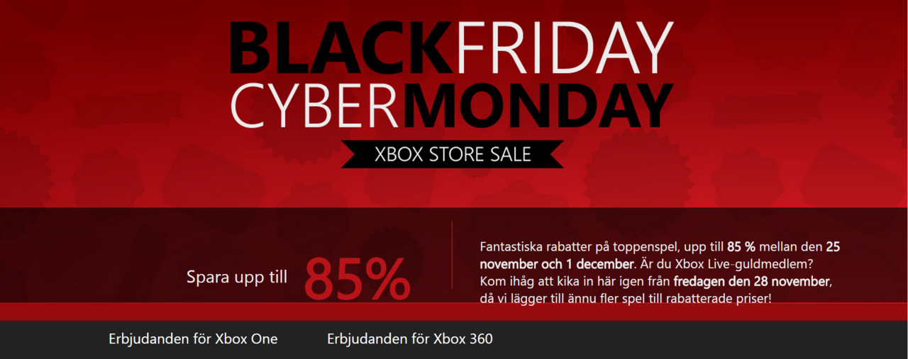 Här har ni Microsofts Black Friday-erbjudanden