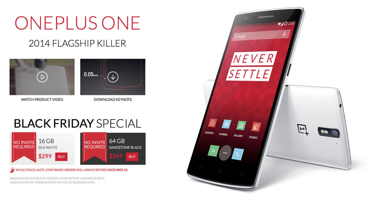 Köp en OnePlus One i helgen