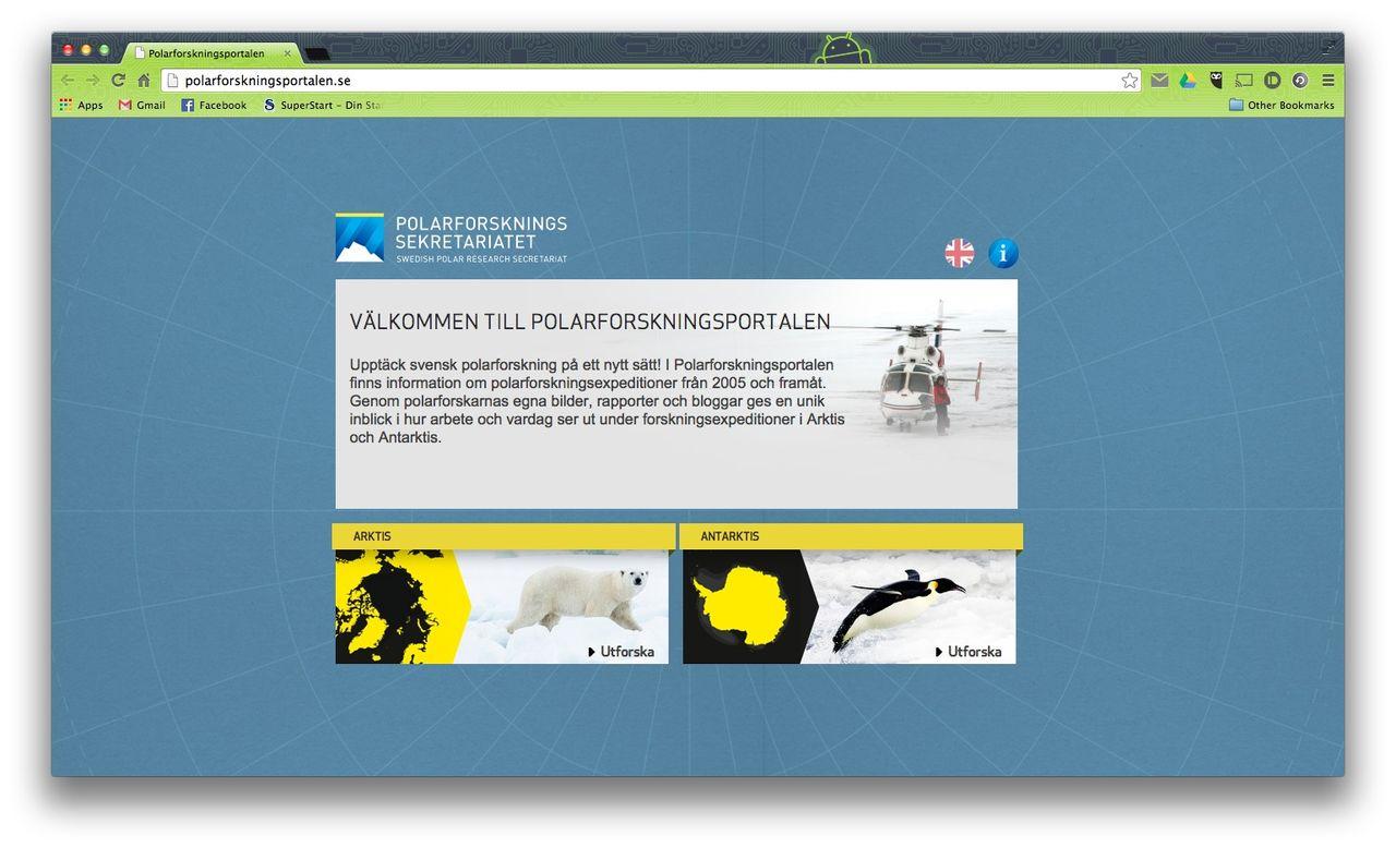 Polarforskningssekretariatet lanserar Polarforskningsportalen