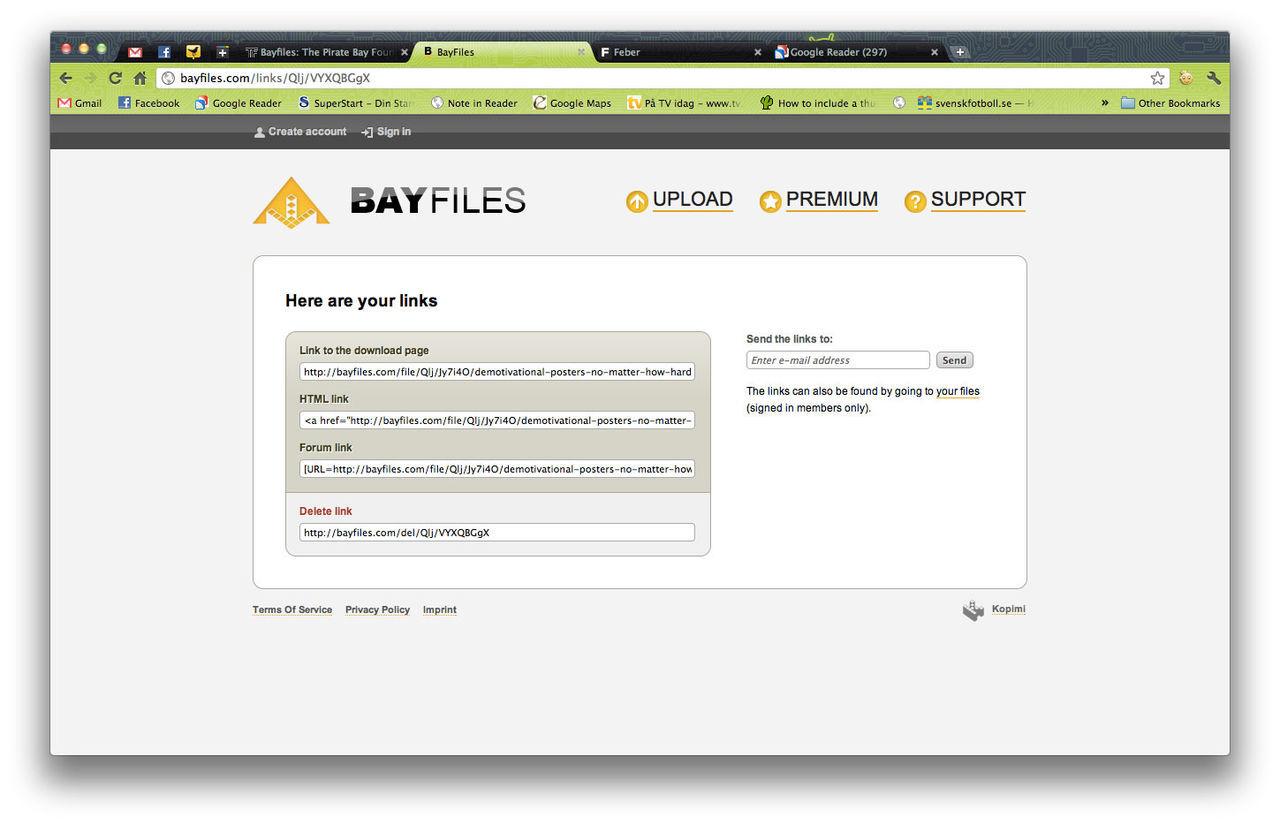 Molntjänsten Bayfiles borta från nätet