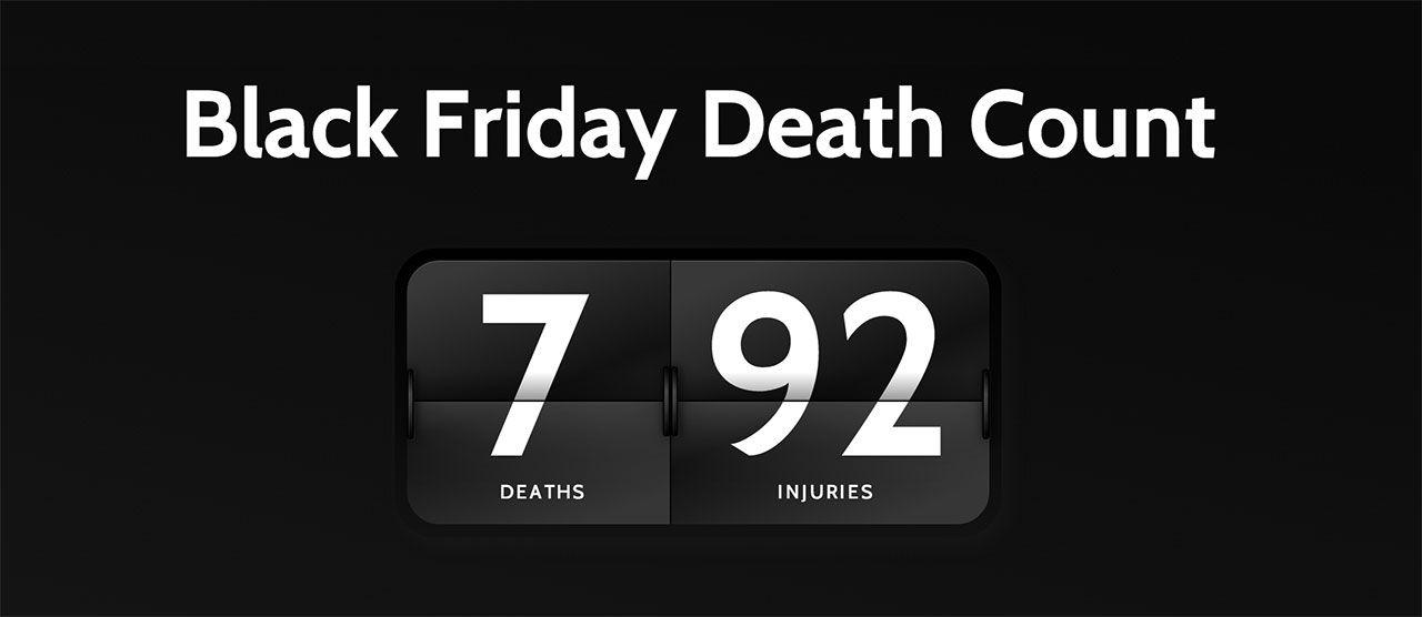 Så många har dött och skadats under black friday sedan 2006