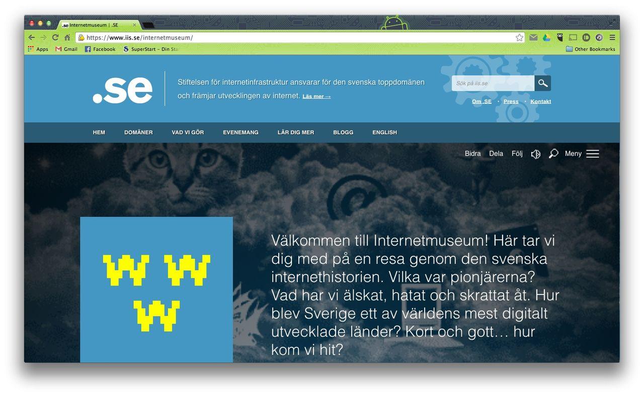 Internetmuseum öppnar idag