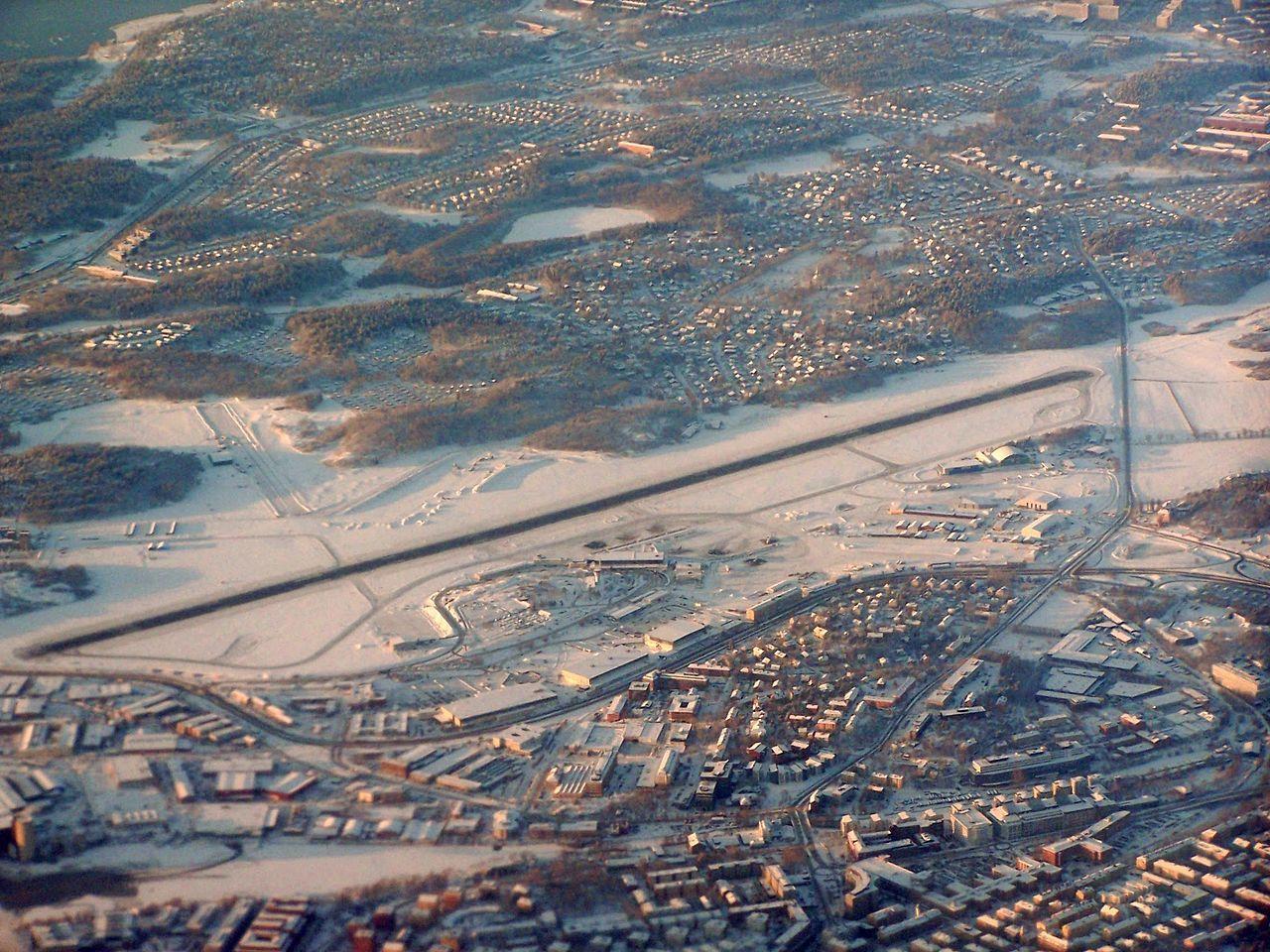 Drönare stoppade flyget till Bromma Flygplats