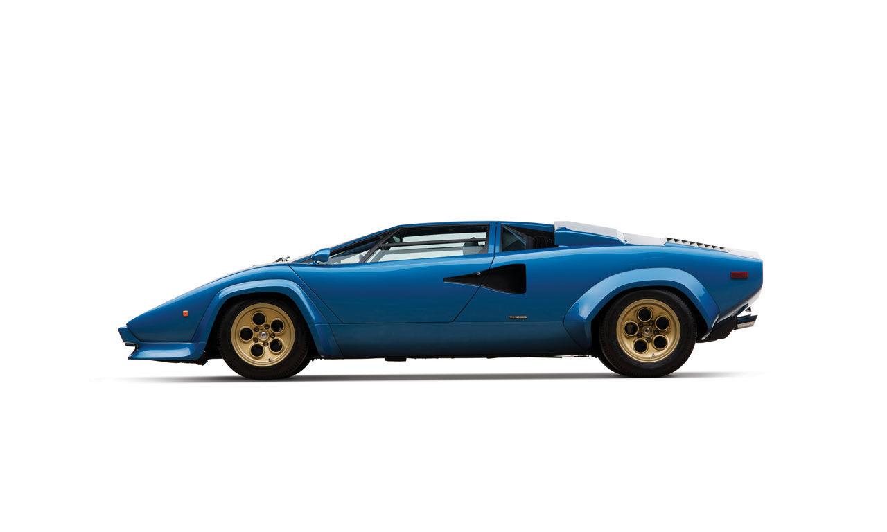 Fantastisk blå Countach på auktion