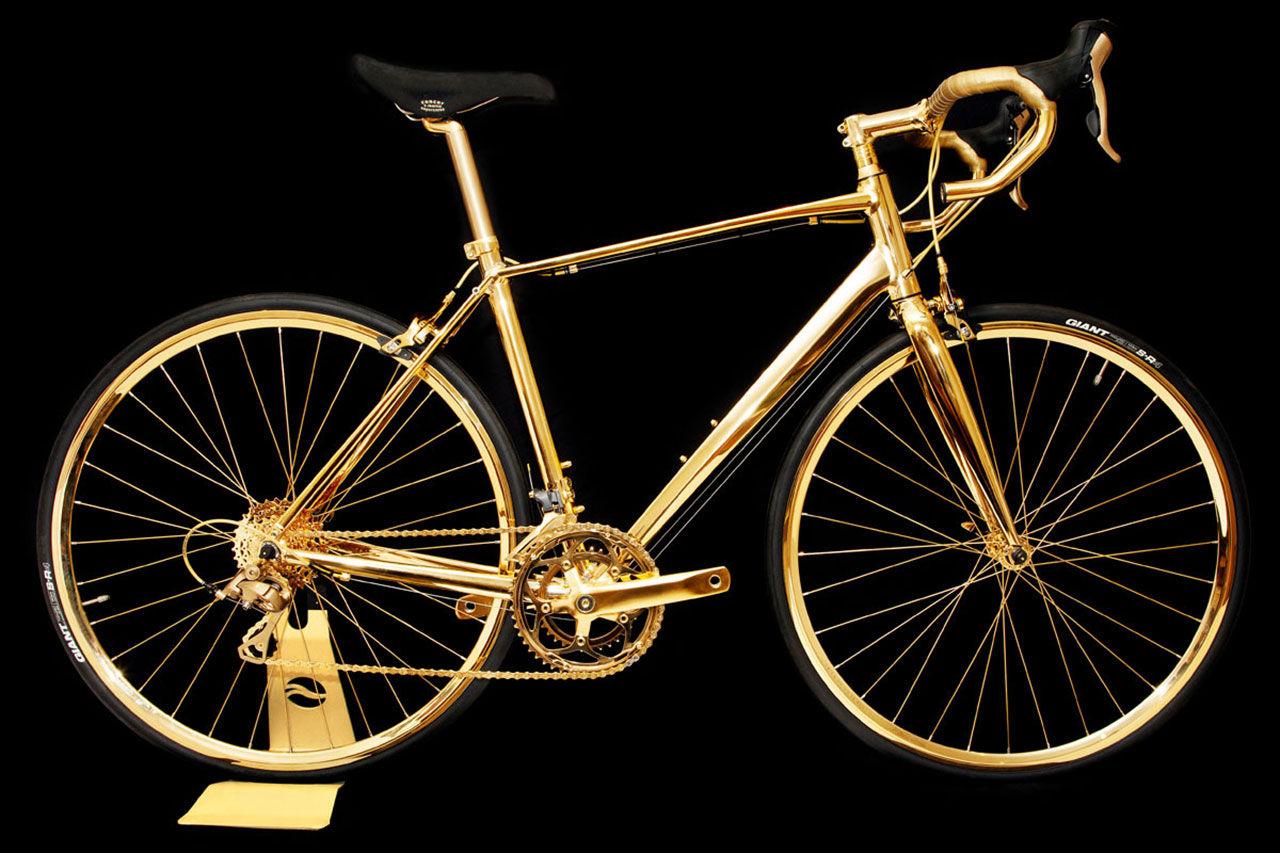 Racingcykel i 24-karats guld