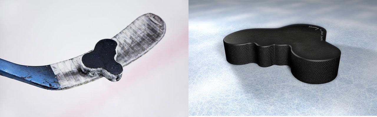 Aaltopuck - en hockeypuck som inte är rund