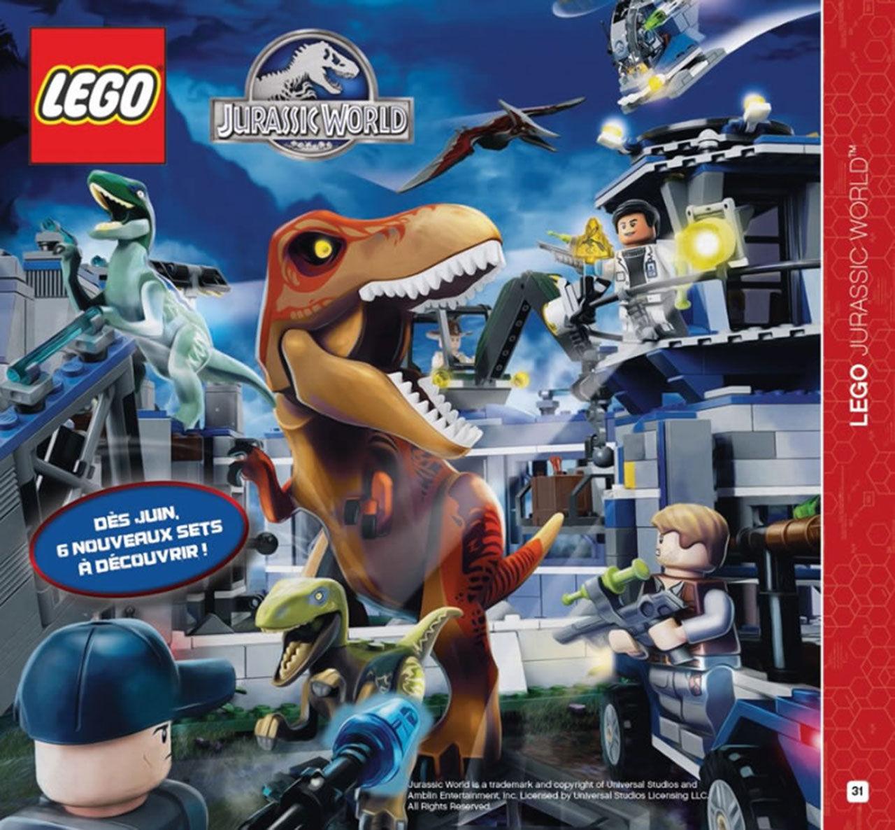 Första bilden på Jurassic World-legot