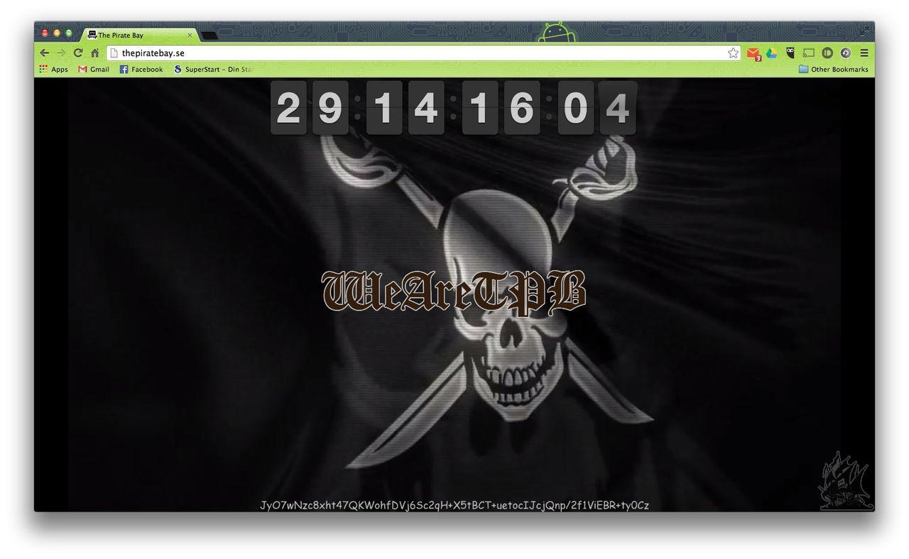 The Pirate Bay börjar räkna ner