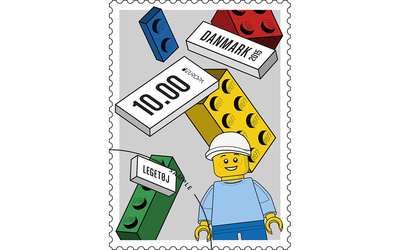 Skicka brev med lego-frimärken