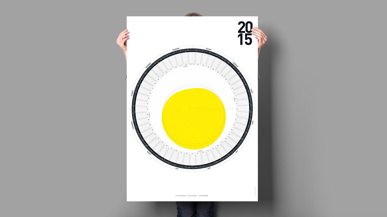 En rund kalender för 2015