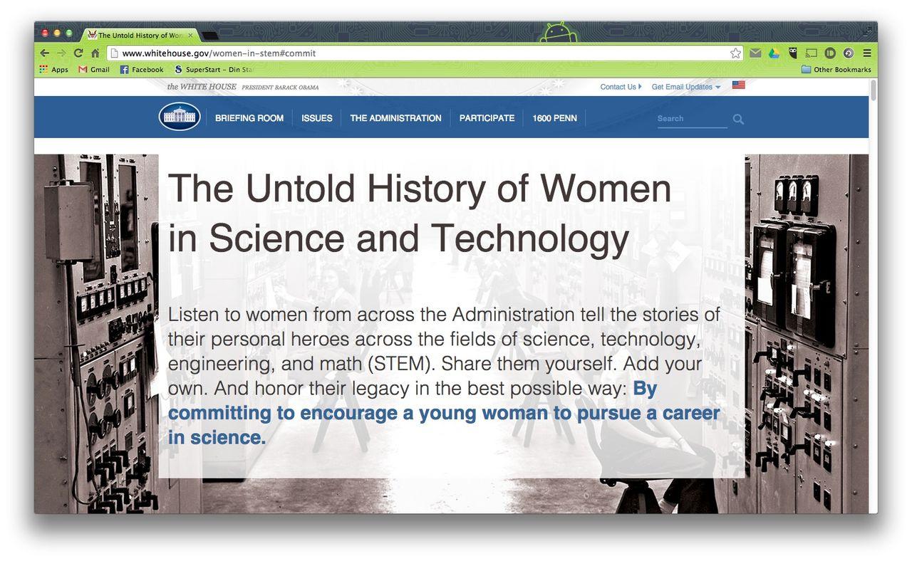 Vita Huset uppmärksammar kvinnor inom teknikhistorien
