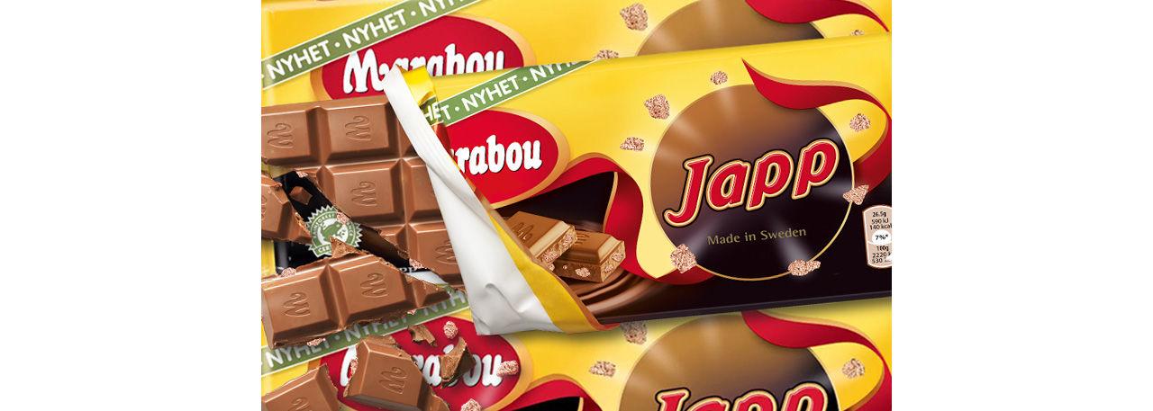 Japp hittar in i Marabou-kakan
