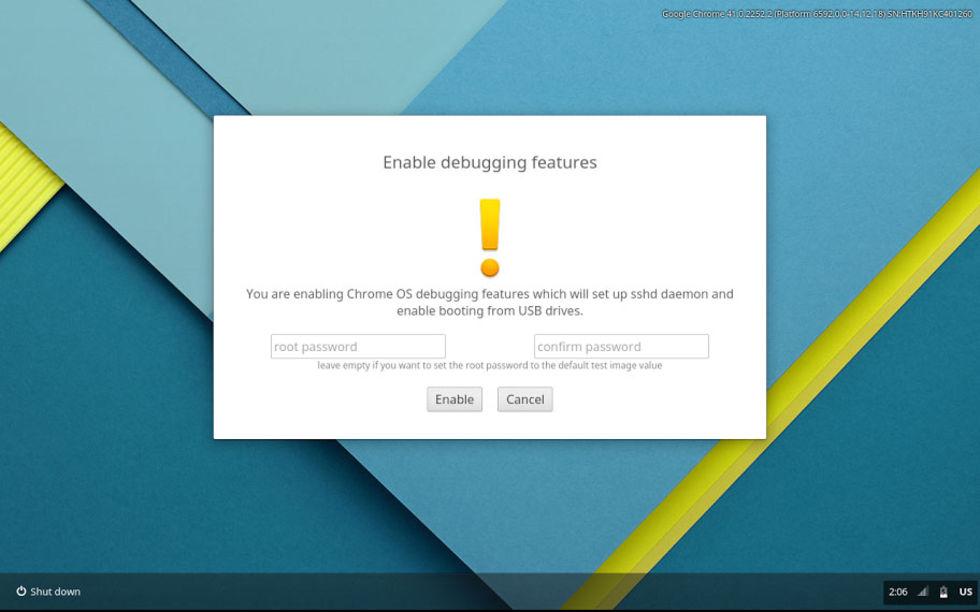 Boota upp andra OS på Chromebook via USB
