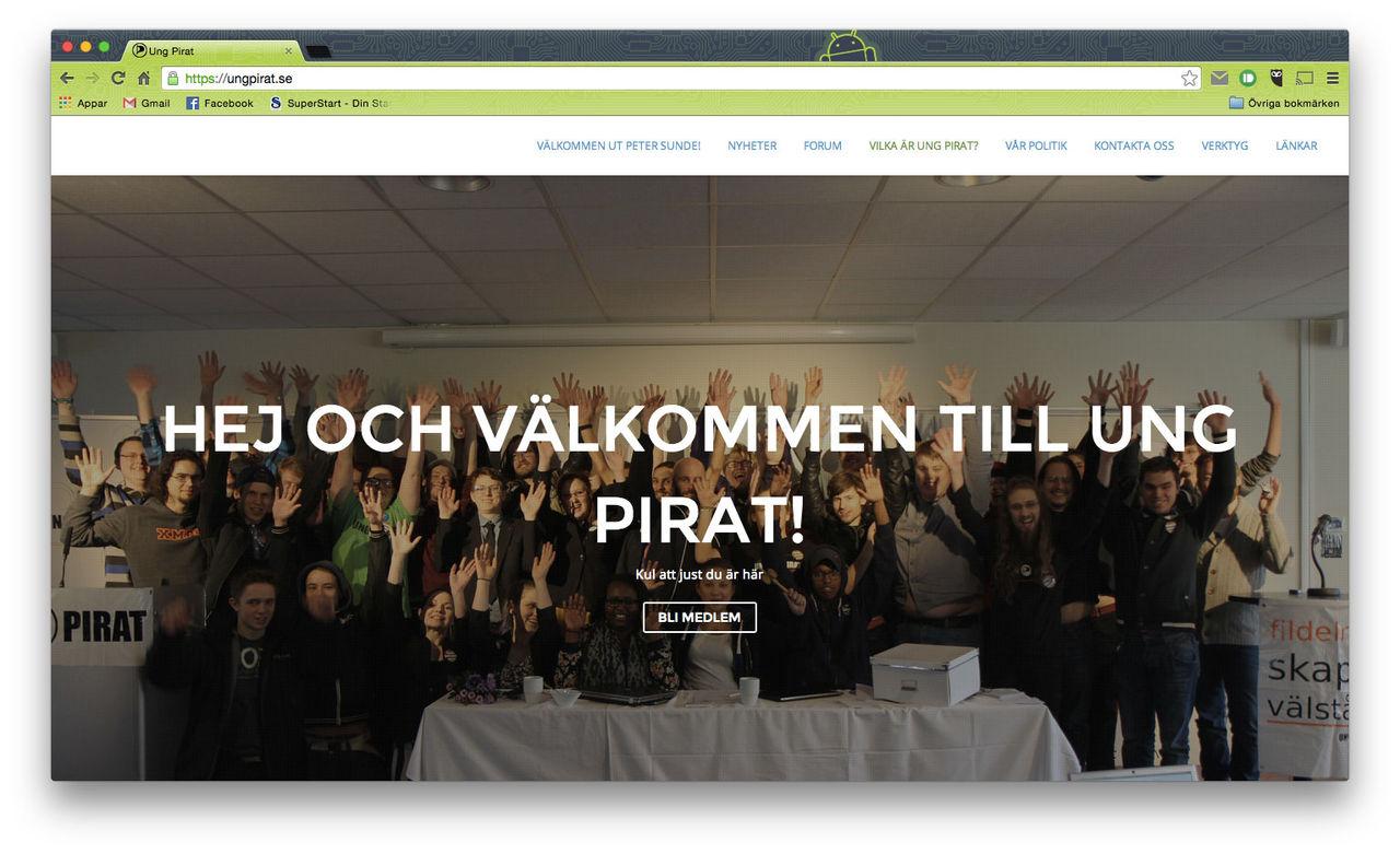 Ung Pirat avlyssnade Folk och försvar-konferensen
