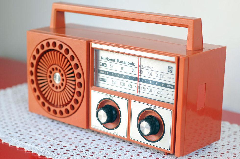 Plastig radio från 60-talet